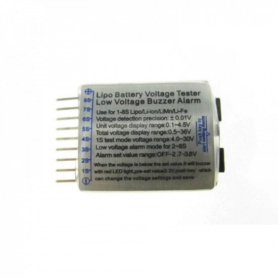 Тестер-сигнализатор разрядки аккумулятора Li-Po (1-8 банок)