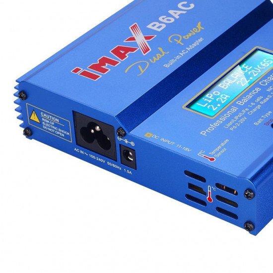 Профессиональное зарядное устройство iMAX B6AC 80W для Li-Ion, LiPo, LiFe, NiCd и NiMH аккумуляторов