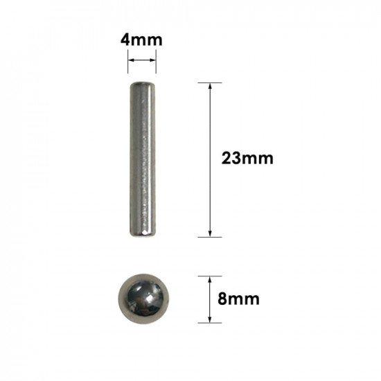 Магнитный конструктор из 36 палочек и 27 шариков 8мм