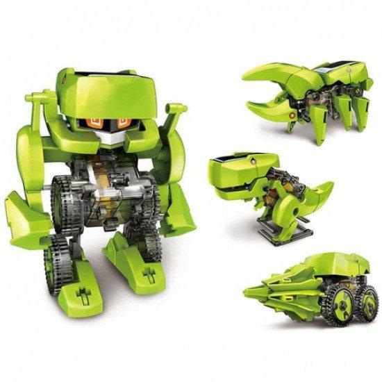 """Конструктор 4 в 1 """"Робот Динозавр"""" на солнечной энергии"""